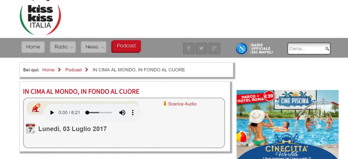 Mario Coppola a radio Kiss Kiss Italia