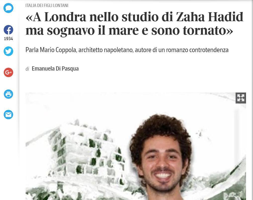 Intervista di Mario Coppola – Il corriere della sera online
