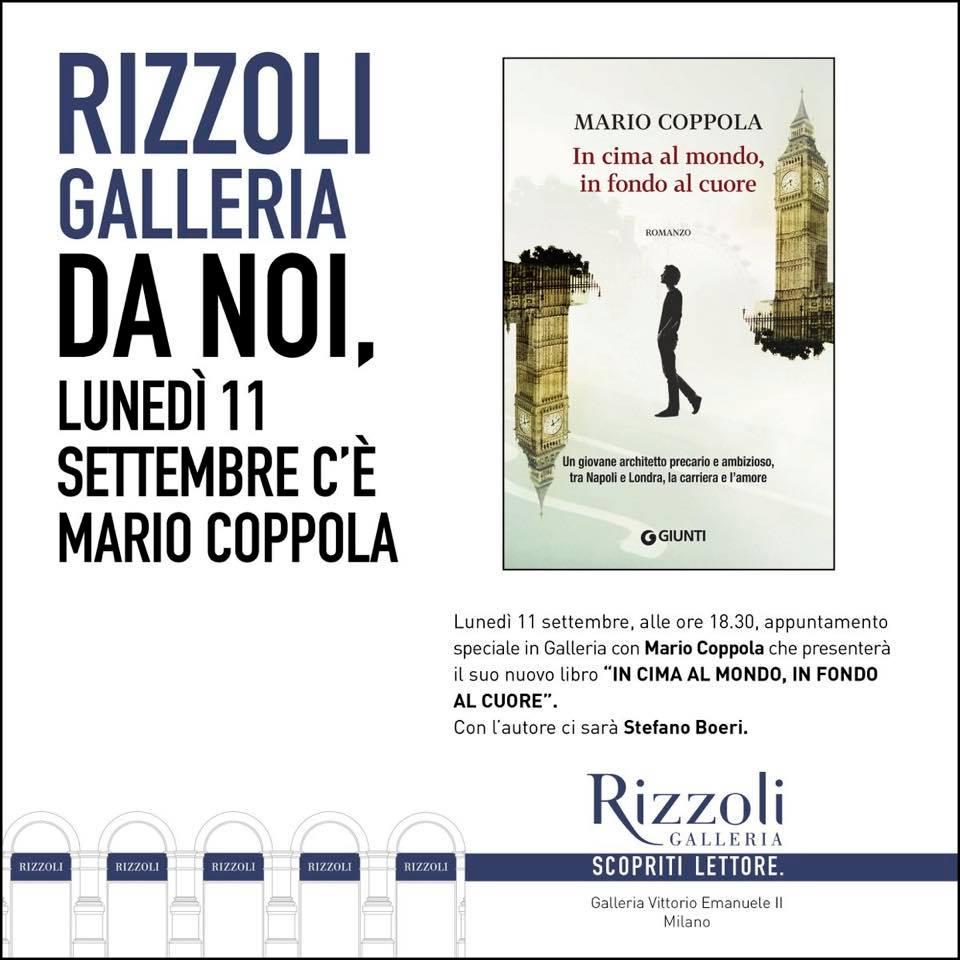 """Presentazione di """"In cima al mondo, in fondo al cuore"""" presso la Rizzoli in Galleria di Milano"""